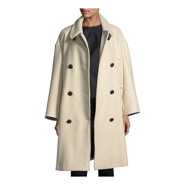 "ETOILE ISABEL MARANT Flicka Double-Breasted Wool Coat - Etoile Isabel Marant ""Flicka"" wool coat. Spread collar;..."