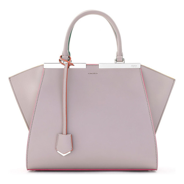 FENDI 3Jours Leather Tote Bag - Fendi satchel bag in soft calf leather. Rolled tote...