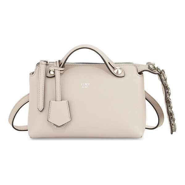FENDI By The Way Mini Crystal-Croc-Tail Satchel Bag - Fendi calfskin satchel with silvertone hardware. Crystal