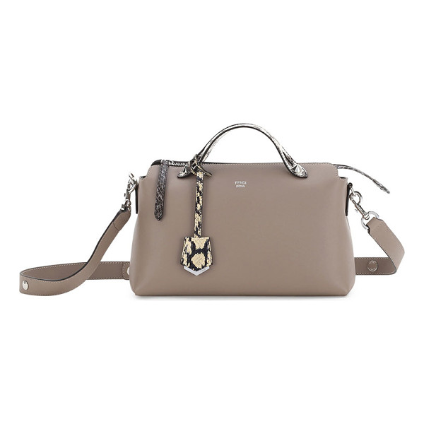 "FENDI By the Way Small Leather & Snakeskin Satchel Bag - Fendi calfskin ""By the Way"" satchel with silvertone..."