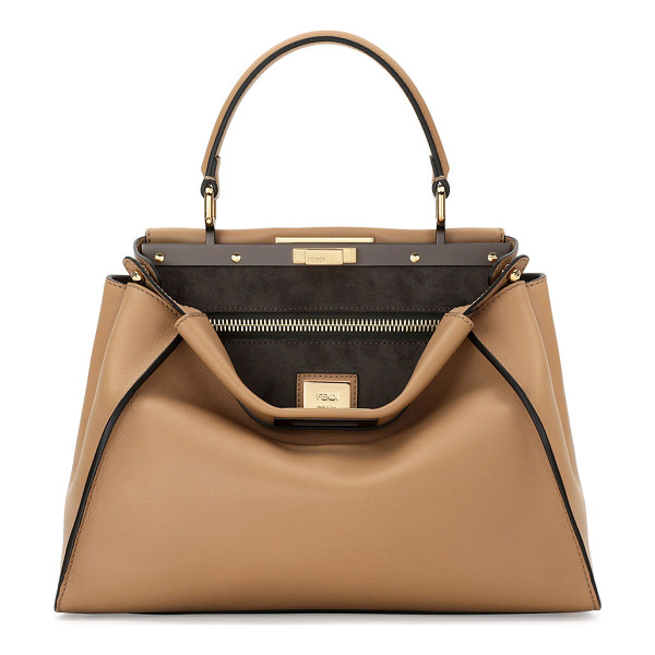 FENDI Peekaboo Medium Satchel Bag - Fendi Peekaboo satchel bag in shiny painted napa leather...