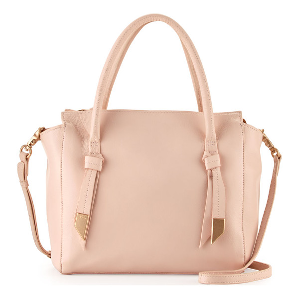 FOLEY + CORINNA Trillion leather satchel bag - Foley + Corinna pebbled leather satchel bag. Rolled top...