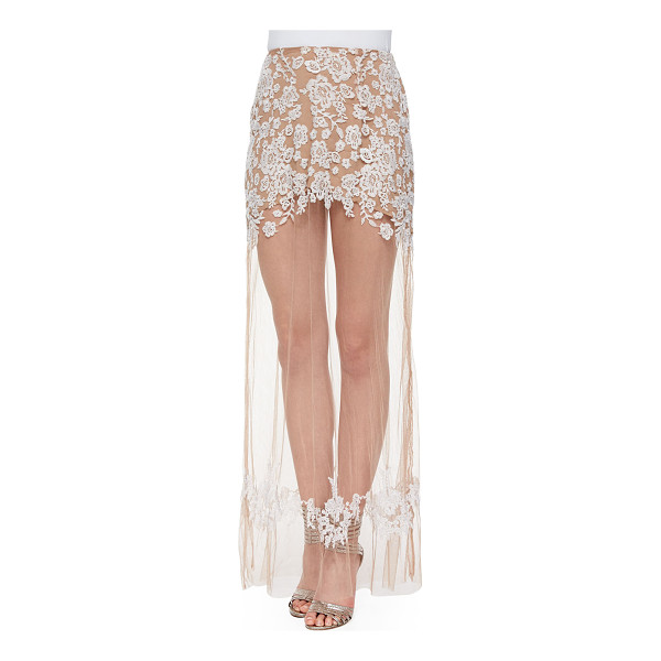 FOR LOVE & LEMONS Luau sheer/embroidered maxi skirt - For Love & Lemons Luau skirt in embroidered mesh with long,...