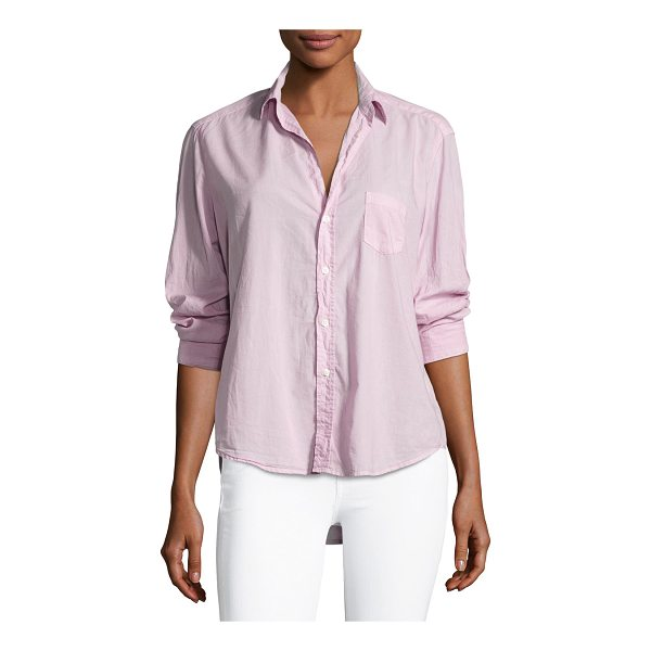 "FRANK & EILEEN Long-Sleeve Button-Front Cotton Shirt - Frank & Eileen ""Eileen"" cotton shirt. Approx. length: 25""L..."