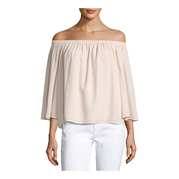 """FRENCH CONNECTION Summer Crepe Off-the-Shoulder Top - French Connection """"Summer Crepe"""" off-the-shoulder blouse...."""