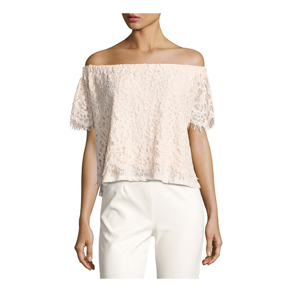 """GENERATION LOVE Carly Off-the-Shoulder Lace Top - Generation Love """"Carly"""" lace top. Off-the-shoulder..."""