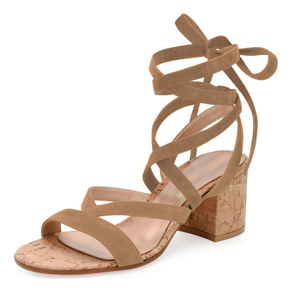 GIANVITO ROSSI Janis Low Suede Lace-Up Sandal - ONLYATNM Only Here. Only Ours. Exclusively for You....
