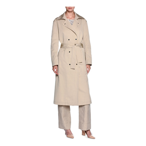 GIORGIO ARMANI Double-Breasted Belted Trenchcoat - Giorgio Armani water-resistant woven trenchcoat. Spread...