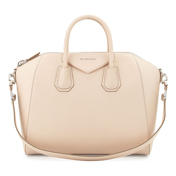 GIVENCHY Antigona medium leather satchel bag - Givenchy goatskin leather satchel with with shiny palladium...
