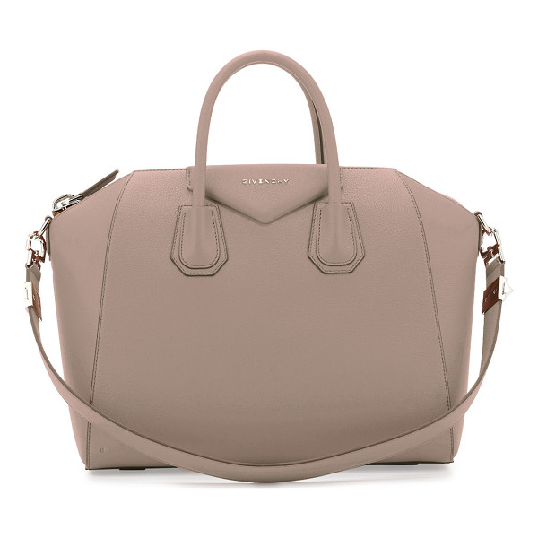 "GIVENCHY Antigona Medium Leather Satchel Bag - Givenchy bag in ""Sugar"" grained goatskin with shiny..."
