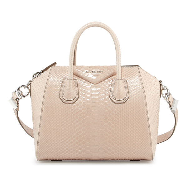 "GIVENCHY Antigona Shiny Python Small Satchel Bag - Givenchy ""Antigona"" shiny python satchel bag. Rolled top"