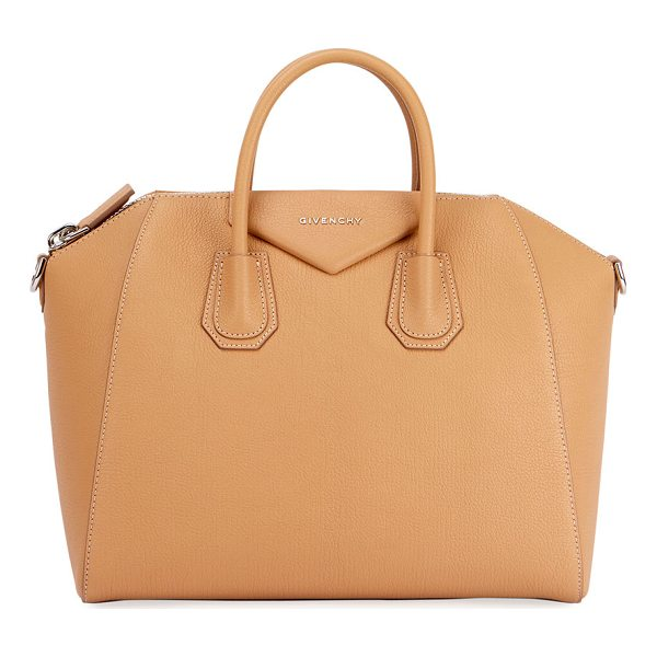 GIVENCHY Antigona Small Sugar Satchel Bag - Givenchy grained goatskin satchel bag with shiny palladium...