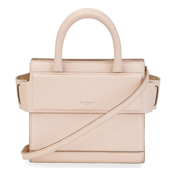 GIVENCHY Horizon Nano Grained Leather Satchel Bag - Givenchy grained leather satchel bag. Available in multiple
