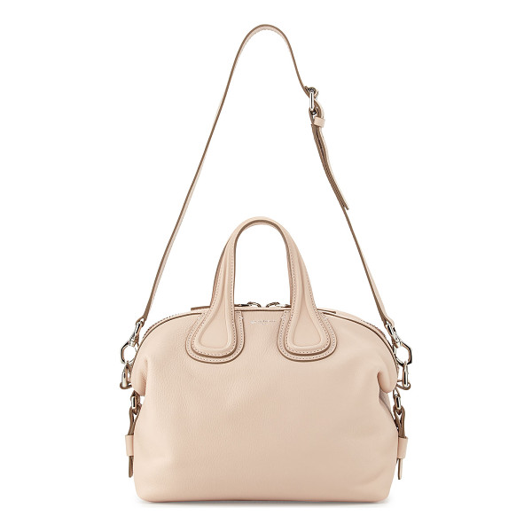 GIVENCHY Nightingale Small Waxy Leather Satchel Bag - Givenchy waxy calfskin satchel bag. Palladium hardware and