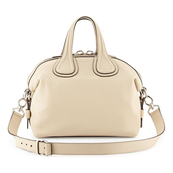 GIVENCHY Nightingale small waxy leather satchel bag - Givenchy waxy calfskin satchel bag. Palladium hardware and...