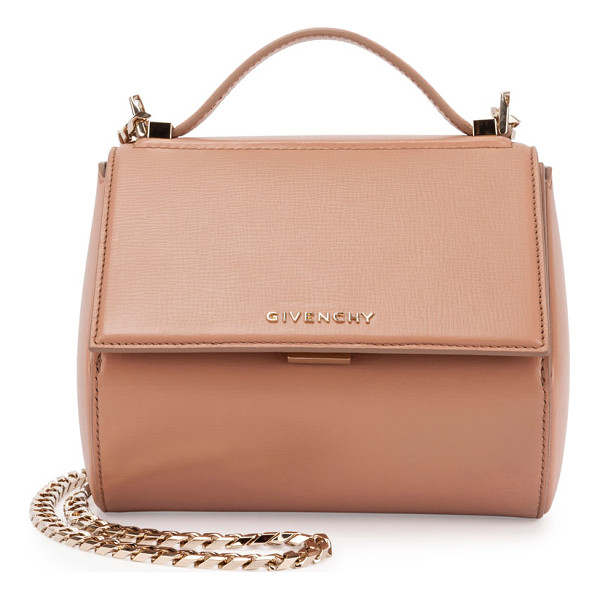 GIVENCHY Pandora Box Mini Chain Shoulder Bag - Givenchy structured calfskin shoulder bag. Shiny golden...