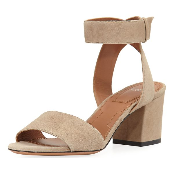 GIVENCHY Paris Suede Ankle-Wrap Sandal - EXCLUSIVELY AT NEIMAN MARCUS Givenchy sandal in kid suede....