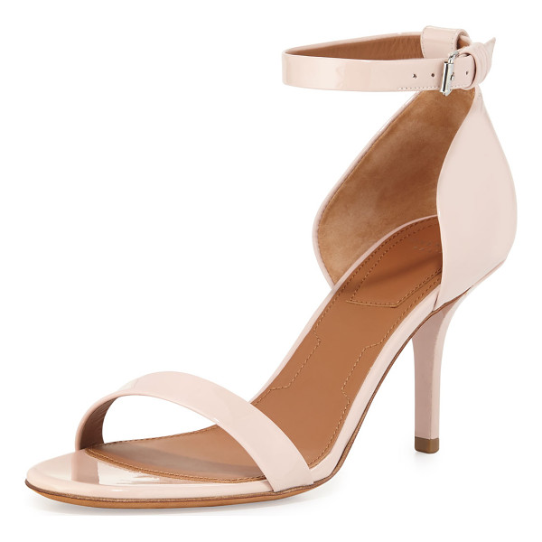 """GIVENCHY Petra Patent d'Orsay Sandal - Givenchy patent leather sandal. 3.3"""" covered heel. Thin toe..."""