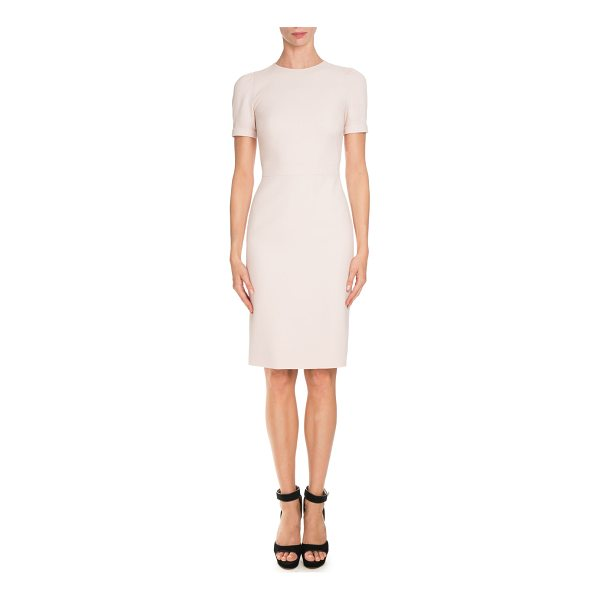 GIVENCHY Short-Sleeve Fitted Pencil Dress - Givenchy pencil dress. Jewel neckline. Short sleeves;...