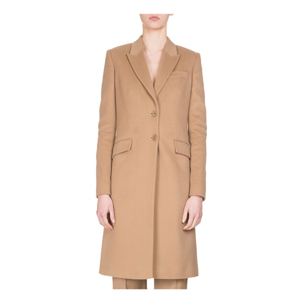 GIVENCHY Wool-Cashmere Classic Coat - Givenchy classic single-breasted coat. Peak lapel;...