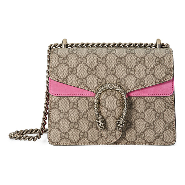 GUCCI Dionysus GG Supreme Mini Shoulder Bag - Gucci GG supreme canvas shoulder bag with hand-painted...