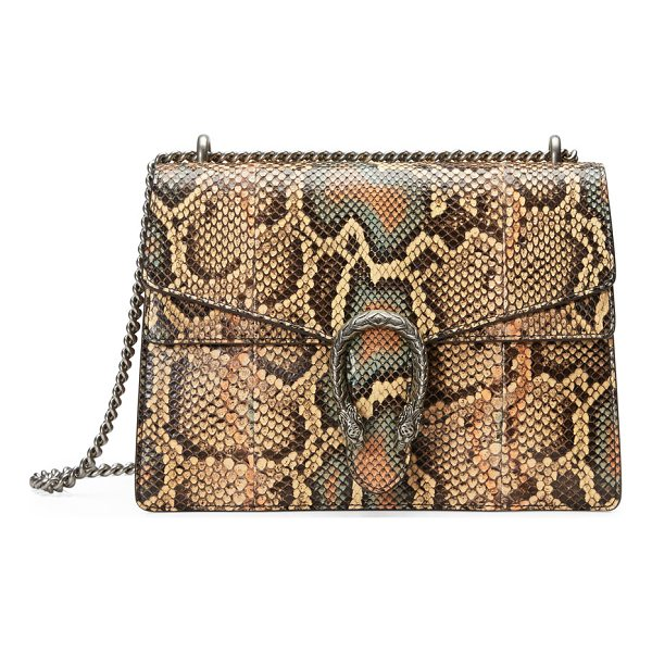 GUCCI Dionysus Medium Python Shoulder Bag - Gucci shoulder bag in hand-painted python with antiqued...