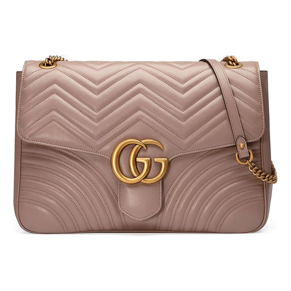 """GUCCI GG Marmont Large Chevron Quilted Leather Shoulder Bag - Gucci """"Marmont"""" shoulder bag in matelass chevron calf..."""