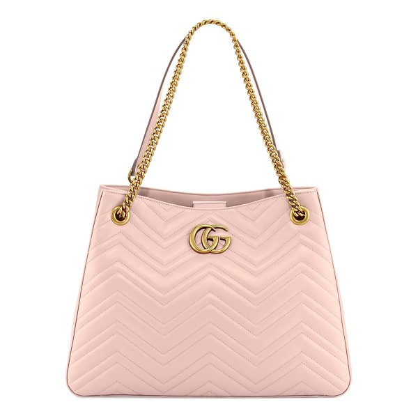 GUCCI GG Marmont Matelassé Shoulder Bag - Gucci matelass leather hobo bag with golden hardware....