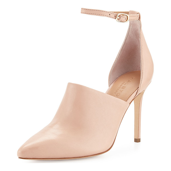 """HALSTON Chloe Leather d'Orsay Pump - Halston Heritage leather pump. 3.5"""" covered heel. Pointed..."""