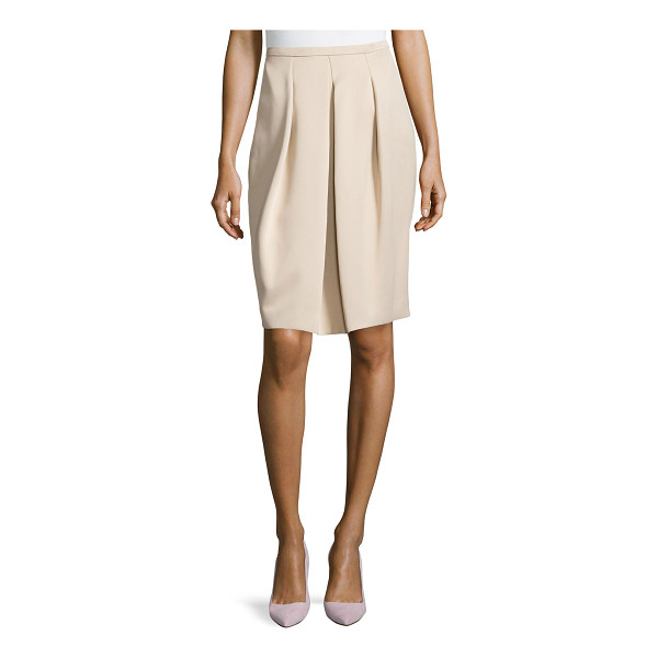 """HALSTON Front pleated full skirt - Halston Heritage crepe skirt. Approx. 24""""L front and back...."""