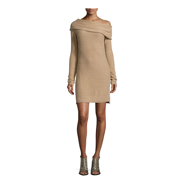 HALSTON Long-sleeve off-the-shoulder sweaterdress -  Halston Heritage cashmere sweaterdress. Approx....