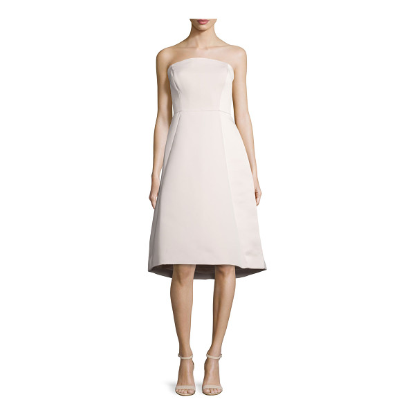 "HALSTON Strapless Structured Dress - Halston Heritage woven dress. Approx. 36""L from top to hem...."