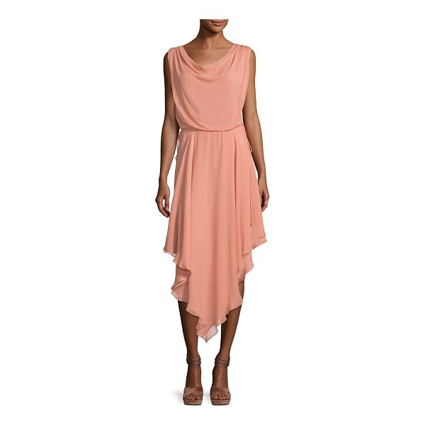 "HAUTE HIPPIE Anastasia Draped Chiffon Dress W/ Asymmetric Hem - Haute Hippie ""Anastasia"" layered chiffon dress. Cowl..."