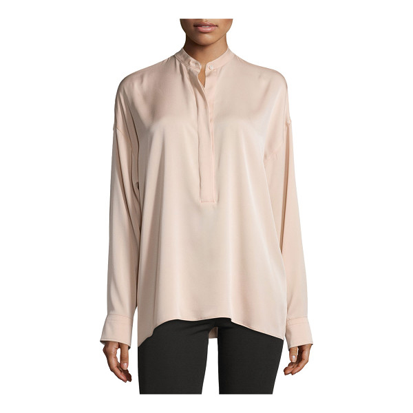 """HELMUT LANG Tie-Back Stretch Silk Top - Helmut Lang top in stretch silk. Approx. 26""""L from shoulder..."""