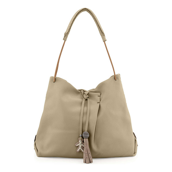 HENRY BEGUELIN Cervo soft leather hobo bag - Henry Beguelin soft leather hobo bag. Tie closure with logo...