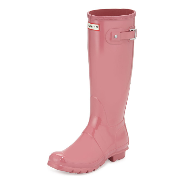 "HUNTER Original Tall Gloss Rain Boot - Hunter Boot original high-gloss rubber rain boot. 1"" flat..."