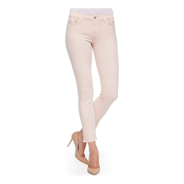 "J BRAND Rail mid-rise cropped skinny jeans - J Brand Jeans Rail cut in twill. Approx. measurements: 9""..."