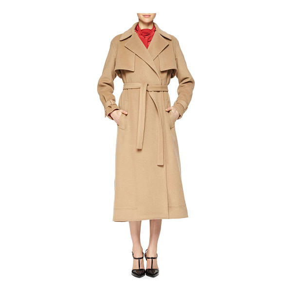 JASON WU Camel-hair capelet trenchcoat -  Jason Wu soft camel hair trenchcoat. Notched lapels. Long...
