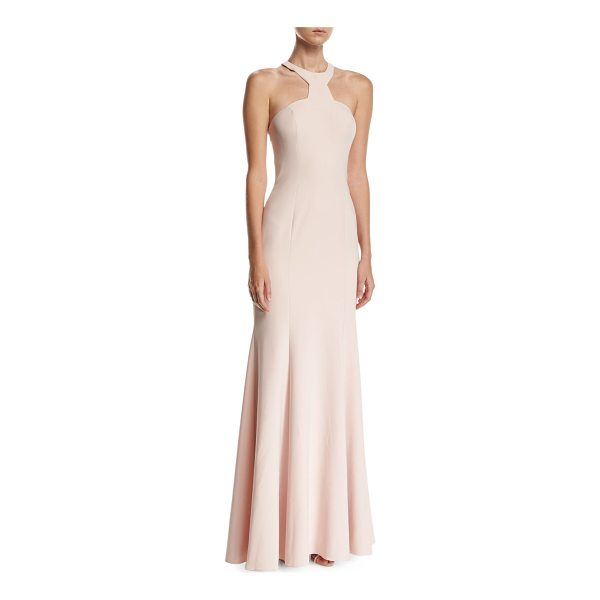"""JAY GODFREY Mayall Open-Back Halter-Neck Gown - Jay Godfrey """"Mayall"""" gown features strappy, open back. High..."""