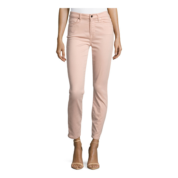 JEN7 Brushed Sateen Skinny Ankle Jeans - Jen7 by 7 For All Mankind jeans in brushed sateen stretch...