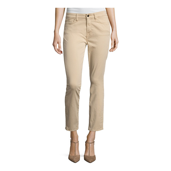 JEN7 Brushed Sateen Skinny Ankle Jeans - JEN7 by 7 For All Mankind jeans in brushed sateen. Mid...