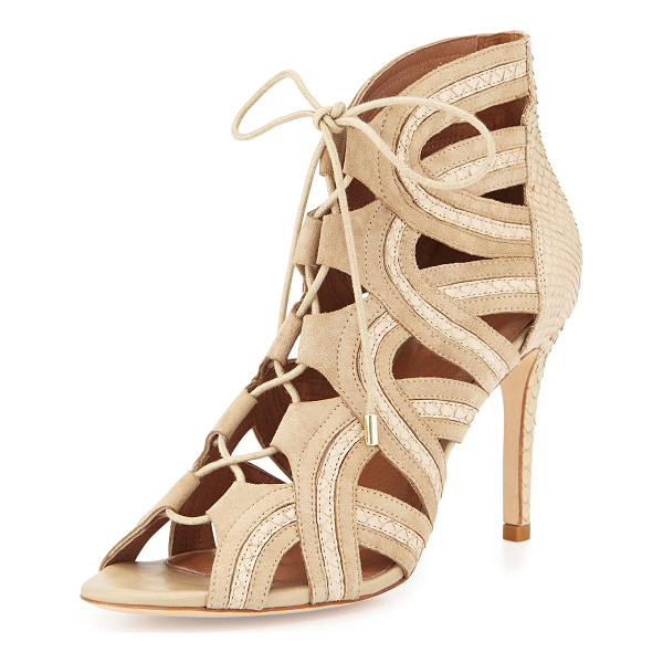 JOIE Dean lace-up gladiator pump - Joie gladiator pump in suede with inset snakeskin trim. 3....