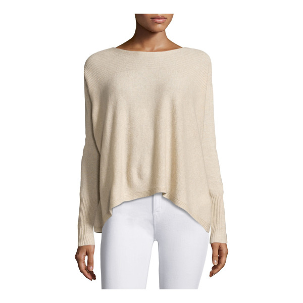 """JOIE Fai Cashmere Rib-Trim Sweater - Joie """"Fai"""" soft sweater with ribbed details at neckline,..."""