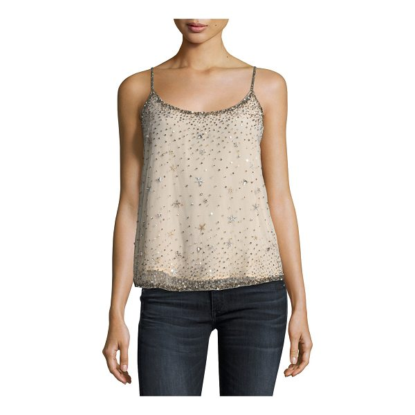"JOIE Garlen Scoop-Neck Sequined Tank - Joie ""Garlen"" tank with embellished sequins. Scoop neckline..."