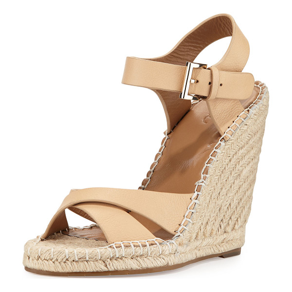 """JOIE Lena leather espadrille sandal -  Joie espadrille sandal with leather upper. 3. 8"""" braided..."""