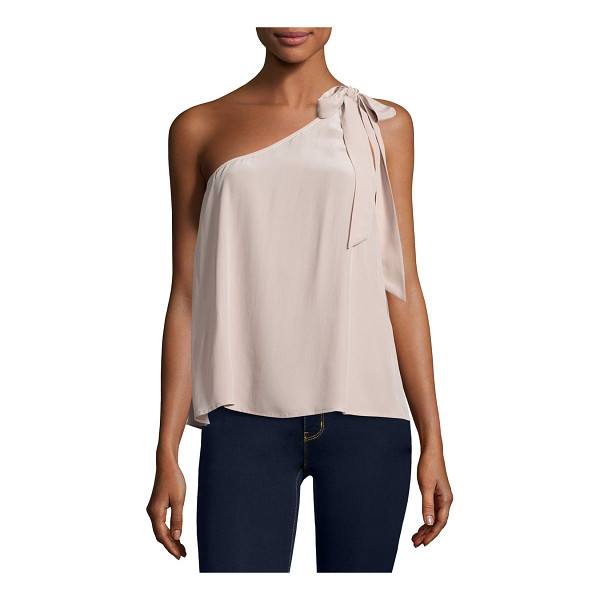 "JOIE Romana One-Shoulder Silk Blouse - Joie ""Romana"" blouse with bow detail. One shoulder..."