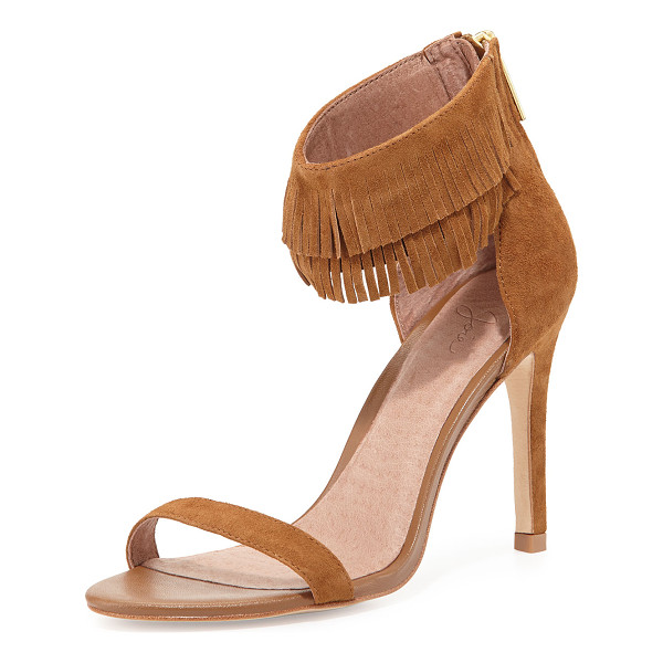 JOIE Suede fringe-cuff sandal - ONLYATNM Only Here. Only Ours. Exclusively for You. Joie...