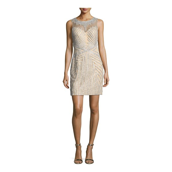 JOVANI Beaded Strapless Illusion Cocktail Dress - EXCLUSIVELY AT NEIMAN MARCUS Jovani beaded cocktail dress....