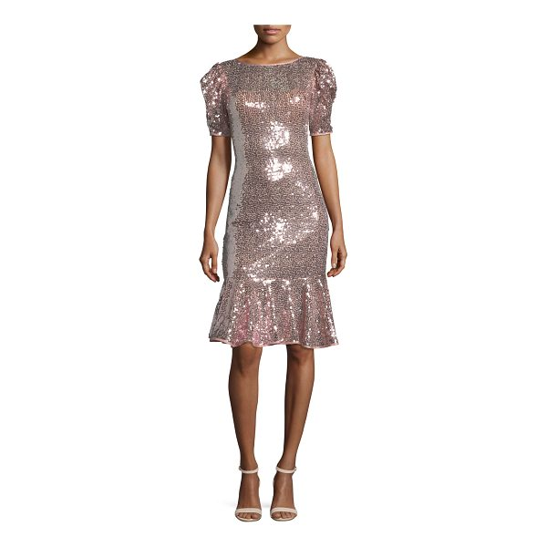 JOVANI Short-Sleeve Sequin Flounce Dress - EXCLUSIVELY AT NEIMAN MARCUS Jovani sequin flounce dress....