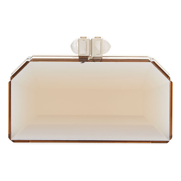JUDITH LEIBER COUTURE Faceted Box Clutch Bag - Judith Leiber Couture clutch in faceted acrylic. Available